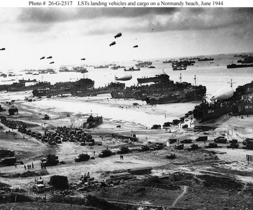 Landing craft 6/6/1944 (from military archives)