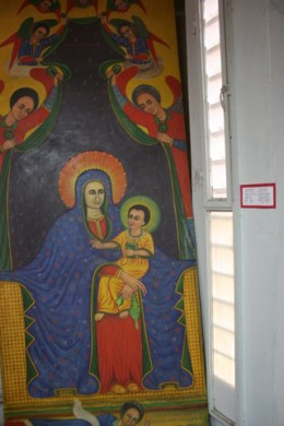 Ethiopian portrayal of Madonna with Child wikipedia commons