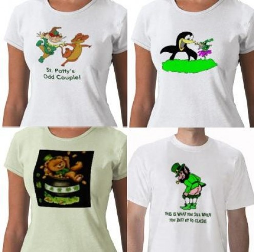 These t-shirts are from my St. Patrick's Day product line on Zazzle.