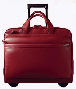 Dilana Signature Collection Wheeled Computer Case in supple napa leather        http://www.airlineinternational.net/diwhfacoca.html