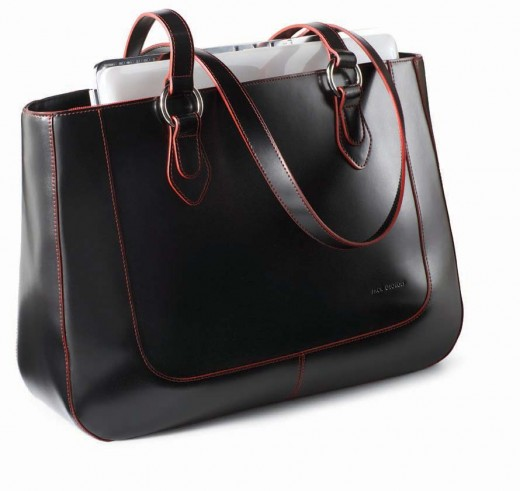 Jack Georges Half Moon Computer Tote in luxurious Italian Leather      http://www.airlineinternational.net/jagelalato.html