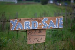 Wondering how to make money?  How about a good old fashioned yard sale?
