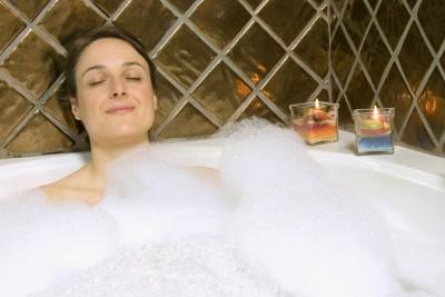 Enjoy a bubble bath in your walk in bathtub