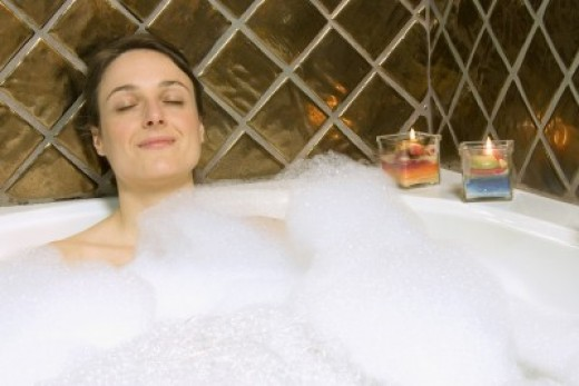 Enjoy a bubble bath in your walk in bathtub
