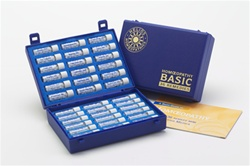 The Basic 36 Remedy Kit includes the following remedies: Aconite 30, Ant Tart 30, Apis Mel 30, Argent Nit 30, Arnica 30, Arsen Alb 30, Belladonna 30, Bryonia 30, Calc Carb 30, Calendula 30, Cantharis 30, Carbo Veg 30, Chamomilla 30, China 30, Drosera