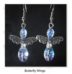 Jewelry Making - How To Make Handcrafted Angel or Butterfly Wing Earrings