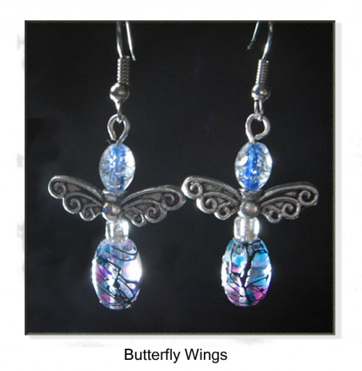 How to make Butterfly wing earrings!