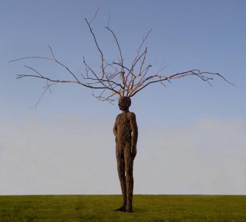 Who have we become since technology has started to define us? Once a people in place with nature, now we exists outside of it's equilibrium. This picture is the legally owned by Hank Vos, it's sculptor. I am in no way the owner or proprietor of it.