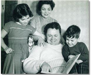 Happy family man