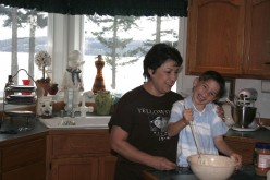 Me and grandson Blake making cookies - its tradition!
