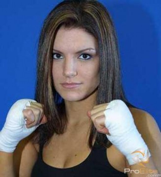 Carano started her career in Muay Thai.
