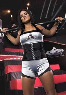 Gina Carano as Crush on American Gladiators