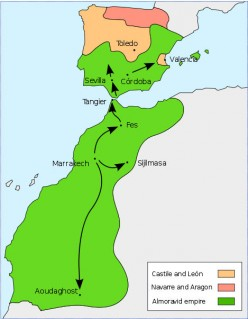 'Almoravid-empire at its greatest extent ~ circa 1106'. * * *  Author of map: Bamse Permission is granted to copy, distribute and/or modify this document under the terms of the GNU Free Documentation License. Further details: http://en.wikipedia.org/