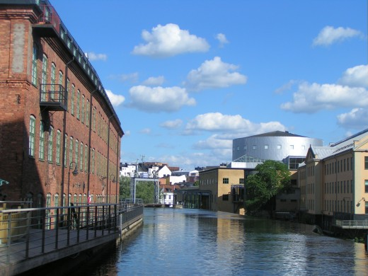 View of Industrilandskapet and its canal (Norrkoping)/ Photo by CaribeM