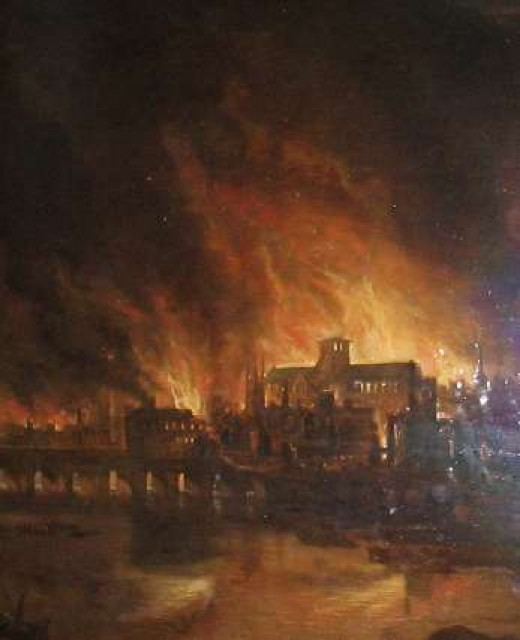 Great Fire of London 1666. Image Credit : infobritain.co.uk