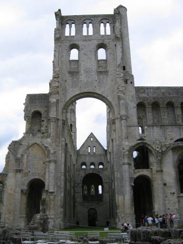 17th century ruins of Medieval Abbey Jumeiges
