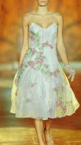White frock with pink florals - photo credit: geniusbeauty.com