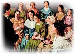 Organized on March 17,1842 under the direction of the Prophet Joseph Smith Jr. Emma Hale Smith was the inaugural President.  Nauvoo, Illinois.