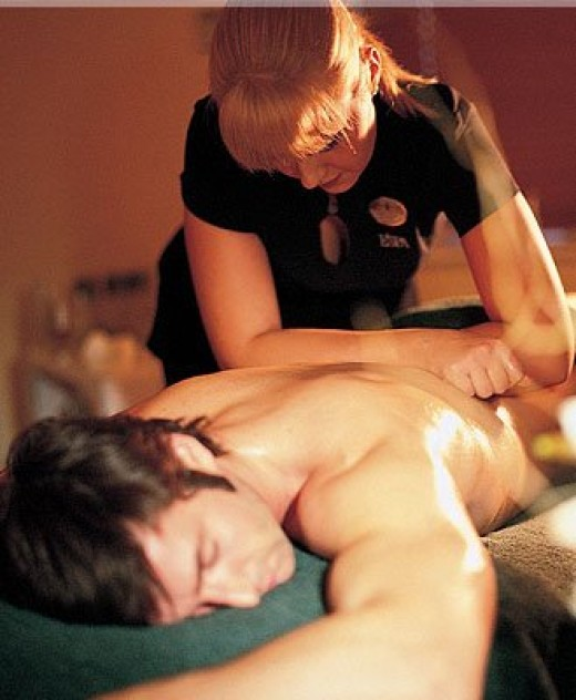 Young Girl Massage to Boy - Aromatherapy Oils