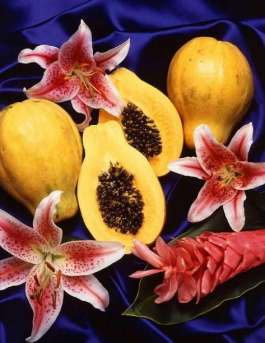 Contents of papaya fruit