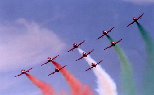 I A F planes on a fantastic show