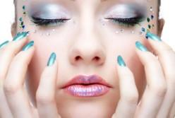 How to apply face rhinestones , rhinestone make up