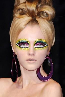 Chrisian Dior's runway make up