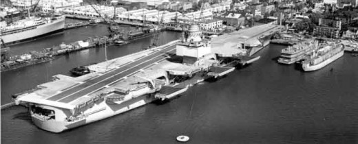 USS Enterprise at Newport News