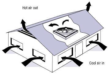 Whole house fan air flow -- image credit: eere.energy.gov