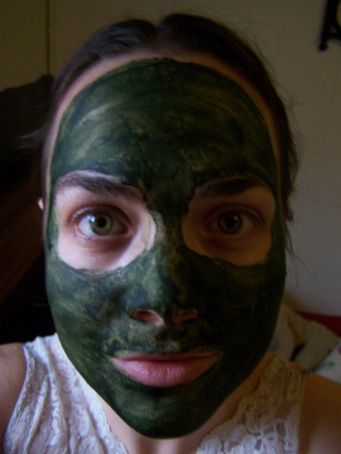 Me with Spirulina and Carrot Juice Face Mask On