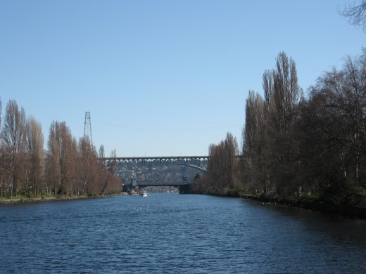Continuing down the canal past the Fremont area