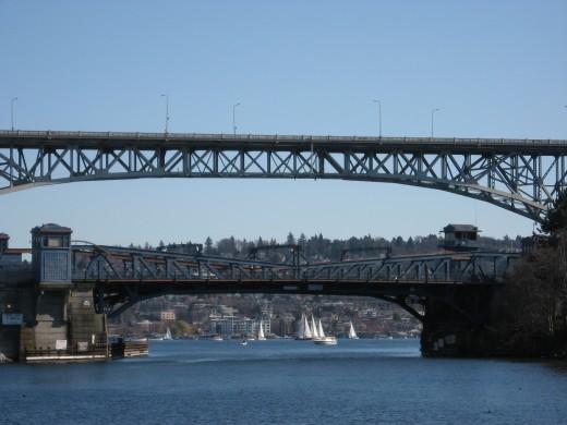 Fremont and Aurora Bridges