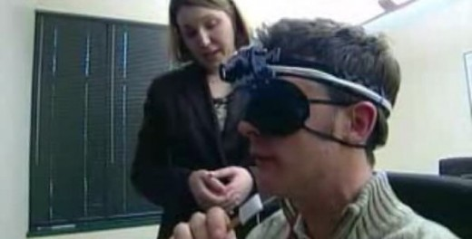 Using taste receptor stimulation to interpret vision, according to light detected from head cameras.