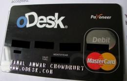 Odesk Payoneer Debit Card