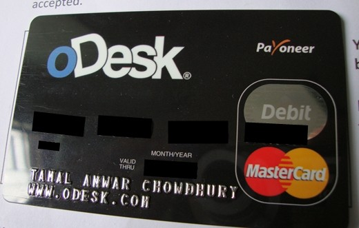 Odesk Payoneer Debit Card