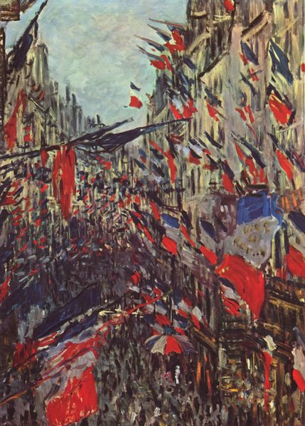 Les rues  by Claude Monet
