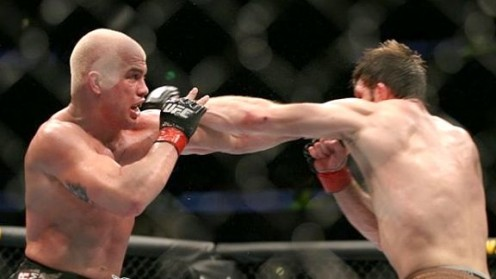 Forrest Griffin and Tito Ortiz trade shots