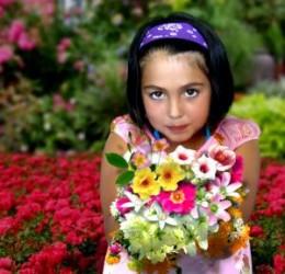 Women loves flower gift since her childhood