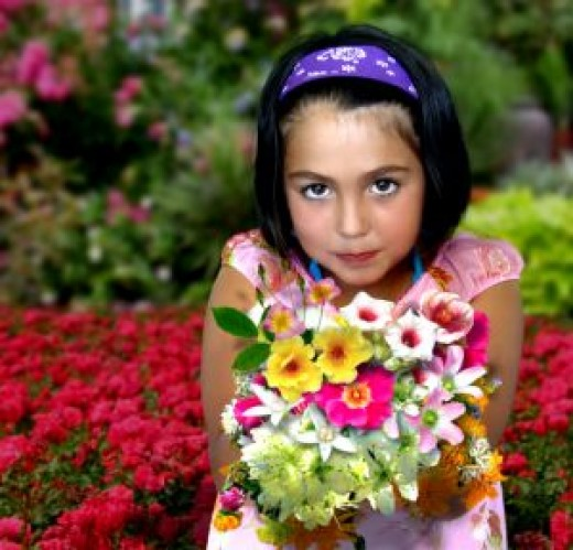 Women loves flower gift since her childhood
