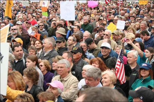 TEA PARTY ATTENDEES RIOT AS USUAL