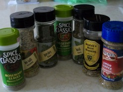 These are the spices I used in this recipe.  They do not overwhelm the taste buds, but are inviting to the nose.