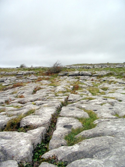 The rugged landscape of The Burren