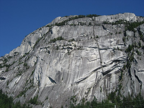 The Stawamus Chief, a 700m high granite dome. One of the most famous rock climbing destinations in the world.