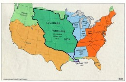Map of Louisiana Territory, including Texas claim