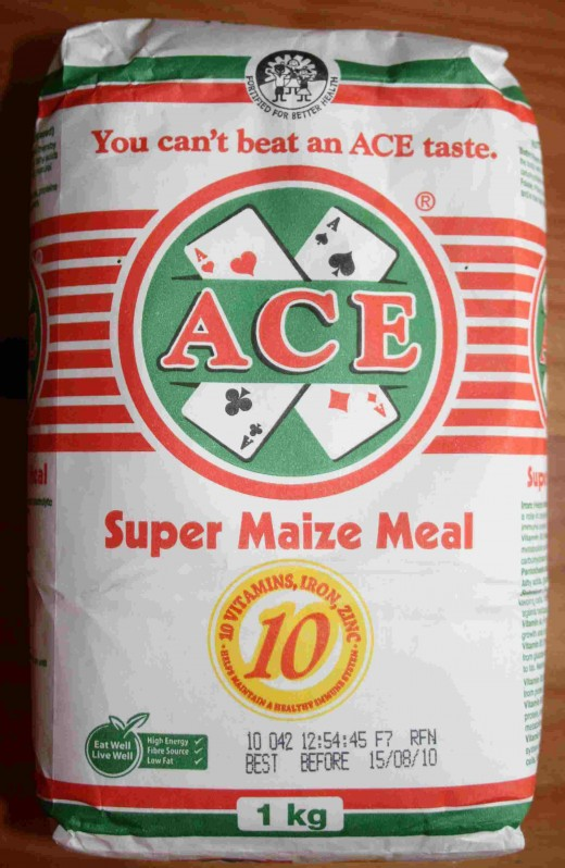 A popular brand of maize meal
