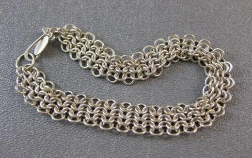 European style chain maille bracelet