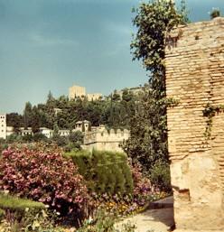 Granada was finally reconquered in 1492. The Alhambra & Generalife Gardens 1985. Copyright Tricia Mason