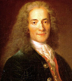 Voltaie (1694-1778), nom de plume of Franois-Marie Arouet, French Enlightenment writer, essayist, and philosopher