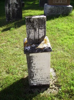 Grave of Patrick O'Connor's Father, Charles O'Connor in Phillipsville, Ontario Canada