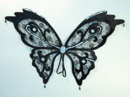Black Lace Effect Butterfly Wings